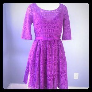 Plenty By Tracy Reese Dress Purple Lace